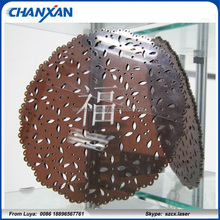 Chanxan factory outlet! cutting design on 10mm acrylic skype szcx.laser