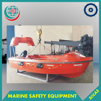 Marine GRP Open Rescue Boat, Marine Fiberglass Lifeboat Equipment
