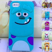 For Apple iPhone 5 5S Cute Animal Pattern Skin Soft Silicone Case Cover