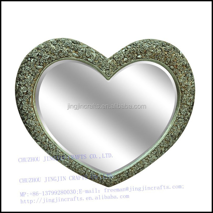 home decoration heart framed antique  wall hanging mirror.jpg