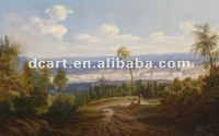 Nice city highlight scenery oil painting