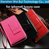 2015 hot for iphone6 case fashion bowknot flip stand cover for apple iphone 6 mobile phone bags cases