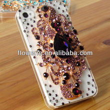 FL2153 2013 Guangzhou luxury handmade crystal diamond case for iphone 5 5G