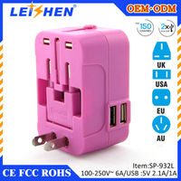 2 USB Ports Universal Power Adapter Wall Travel Charger for iPhone iPad Samsung Smart Phone MP3 Tablet 5V 2.1A multi Plug