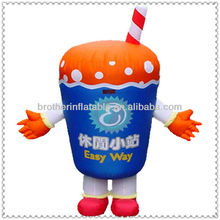 Inflatable Moving Cartoon Costumes for Advertisement