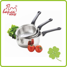 3-ply stainless steel clad cooking vegetables covered saucepan /FP05004