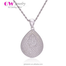 Fine Brand 925 Sterling Silver Crystal Pendant Charm Jewelry Wholesale