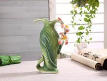 Chinese Style CannaPattern Ceramic Vase