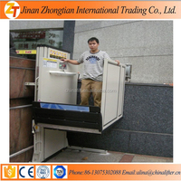 Home wheelchair lift elevator vertical wheelchair home lift disabled lift works