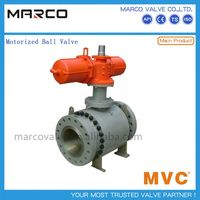 Hot sale carbon and stainless steel flange,butt welded end actuator electric motor and manually ball valve