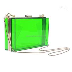 latest fancy acrylic ladies side bags wholesale