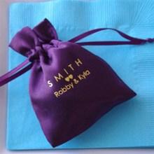 Custom Mini Satin Drawstring Gift Bag For Packing