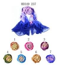 Indio bufanda de seda populares de tela de lino para mujeres bufanda pañuelo en la cabeza para venta al por mayor