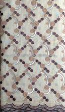 Nuevo de organza de novia de encaje tejido, diseño de bordado para la mujer de vestir de tela de encaje