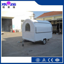 environmental protection food trailer white