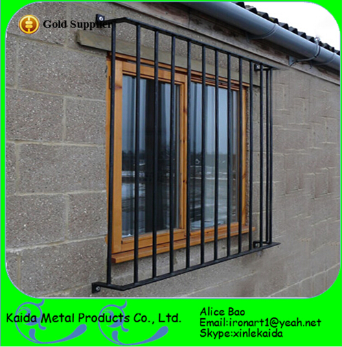 Ornamental french modern simple steel window grill design for Simple house window design