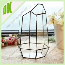 100% refund the value of broken piece in Shipping > Wholesale wedding decorations geometric terraium brass flower 6ft vase