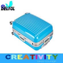 elegant look new coming fashionable department aluminum sash abs+pc material trolley luggage suitcase/luggage cabin