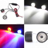 Brand New Big Promation High Quality Motorcycle LED Round Burst Flash Lantern Hawkeye Brake Lights 12V 3W