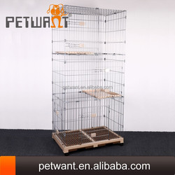 Strong large steel iron welded wire mesh dog iron cage