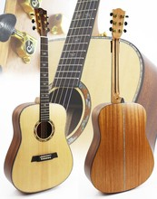 41 inch all solid wood acoustic guitar with spruce top