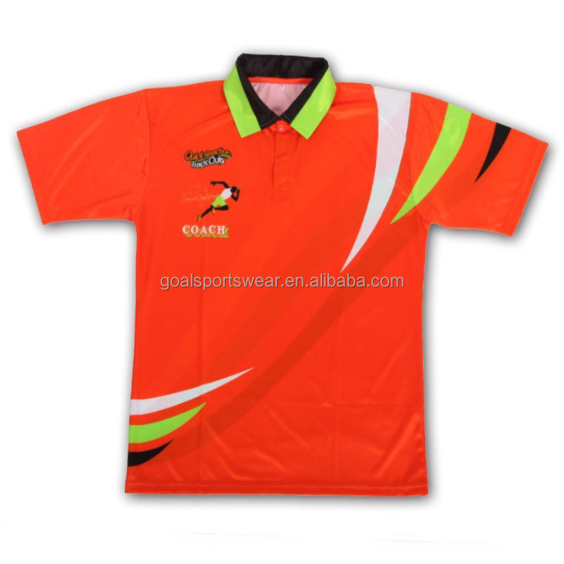 100 polyester bright color custom sublimated children for Custom polyester polo shirts