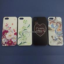 custom full design 3d image back cover case for iphone 4