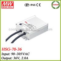 Meanwell HSG-70-36 constant voltage led driver 36v 2a