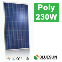 Bluesun 17% efficiency hot sale poly pv solar module 230wp