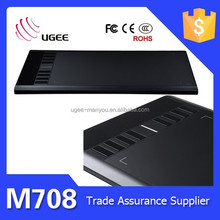 Ugee 10*6 inch M708 type computer tablet keyboard drawing