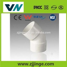 low price ERA pvc rain gutter pvc pipe fitting 45 degree elbow