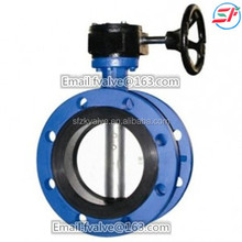 ISO,GB,JIS Marine Centric Double Flange Type Worm Gear Operated Butterfly Valve