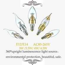 Led candle light 3W/3.5W/4W/4.5W E12 E14 SMD2835