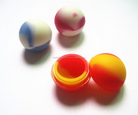 FDA approved food grade non stick small mini round popular slick oil ball silicone weed jar wax/oil containers