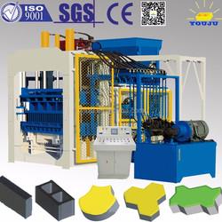 Used block machine qt12-15 Type Hydraulic concrete hollow block making machine brick making machine