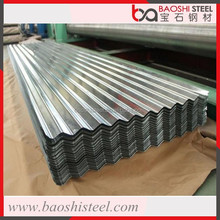 Baoshi Steel thick heat resistance decorative corrugated galvanized zinc roof sheets