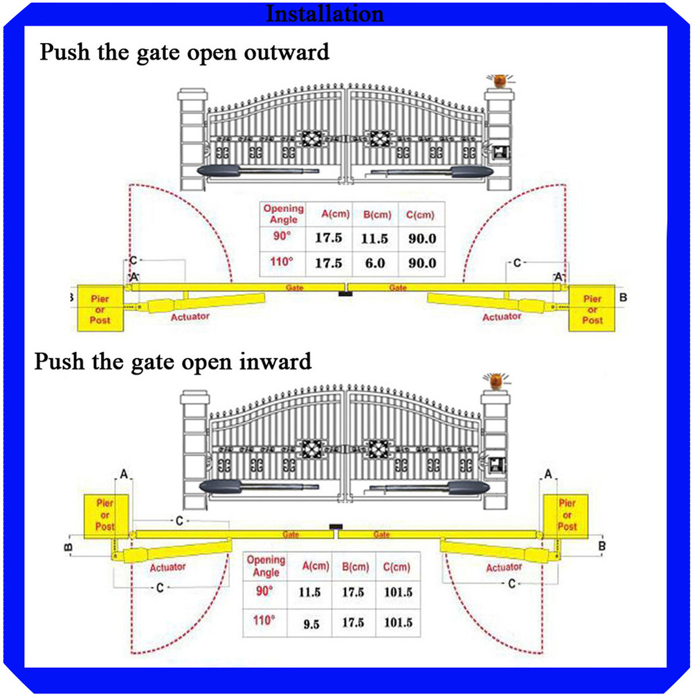 Swing Gate Opener Wiring Diagram Trusted Diagrams Electric Door Pkmc02 Automatic Double View Lighting