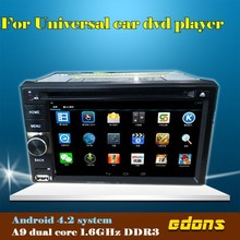 2014 newest 6.2'' universal 2 din android 4.2 car dvd with GPS wifi 3G radio TV
