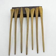 Original Natural Exotic Wooden Hair Stick Pins, Wood Hair Pins