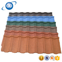 Alu-zinc Fade Roof Classic Color Coated Stone Metal Roofing Tiles For Sale 820*770mm