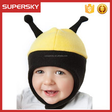 A-634 children polar fleece earflap beanie kids soft fleece cotton lined beanie baby bonnet winter fleece hat