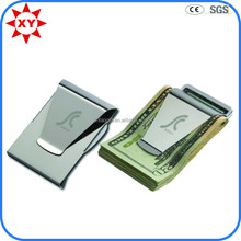 Wholesale custom mens wallet with money clip with laser your logo