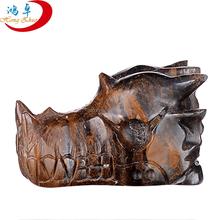 Very charming! natural tiger iron crystal dragon head/crystal dragon