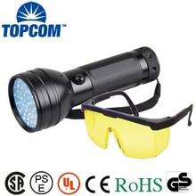 Safety Goggles 390nm 51 LED Purple Light UV Flashlight