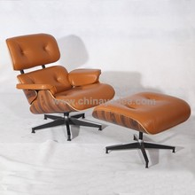 Eames Leather Luxury Lounge chair Walnut Charles Eames lounge chair