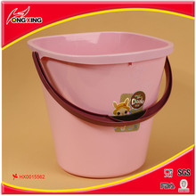 New design square mouth plastic bucket with handle