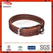 New OEM pet dog products hunting leather dog collar