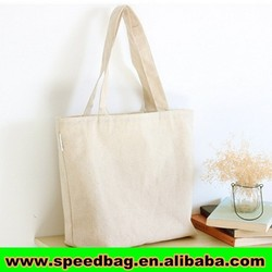 Organic Blank Cotton Tote Bag with bottom