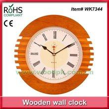 Woodpecker 28cm art wood wall clock timber hanging modern clock