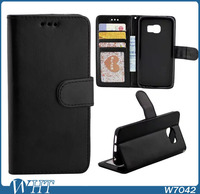 Hot Sale Crazy Horse Leather Flip Stand Phone Cases for Samsung Galaxy S6 S6 Edge with Photo Frame